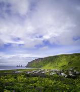 Vik, an Icelandic Village - stock photo