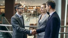 Business Greeting Stock Footage