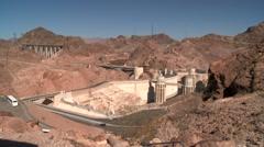 Boulder Dam Hoover Dam - stock footage