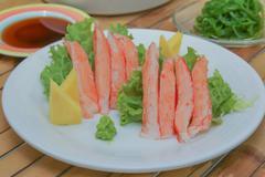 Imitation Alaska Crab Stick Stock Photos