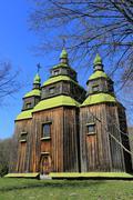 wooden church - stock photo