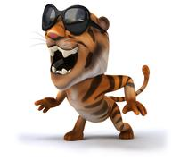 Fun tiger Stock Illustration