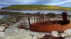 4K UltraHD A timelapse of Marwick Bay, Orkney Stock Footage