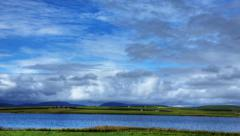 4K UltraHD The big sky of the Orkney Islands, Scotland Stock Footage