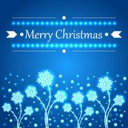 Christmas concept background with snowflakes. - stock illustration