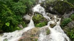 Raging Waterfall during Rainstorm - Sapa Vietnam - stock footage