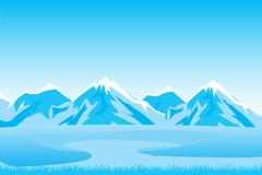 Mountain landscape Stock Illustration