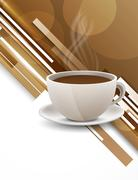 Background with coffee cup Stock Illustration