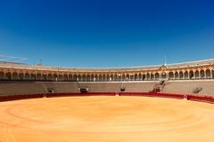 bullfight arena  in Seville, Spain - stock photo