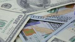 Hundred dollar bills Stock Footage