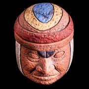 olmec relic - stock photo