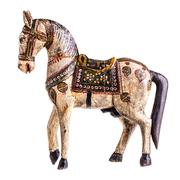 ancient wooden horse - stock photo