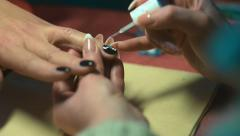 Paint nails in the salon Stock Footage