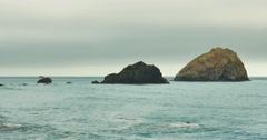 Eroded Ocean Rocks Stock Footage