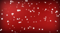 Red Sparking star festive motion background Stock Footage
