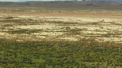 Aerial BLM Land Scrubland vegetation dry climate USA - stock footage