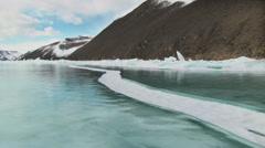 Winter Baikal lake in Siberia, Russia Stock Footage