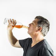 Man drinking alcohol Stock Photos