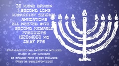 35 Hanukkah Symbols Stock After Effects