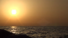 HD Timelapse with sea waves in a splendid summer sunset. Tropical view. - stock footage