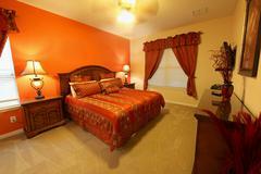 king master bedroom - stock photo