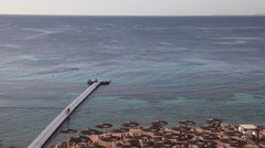 Panoramic view of the beach. Egypt Stock Footage