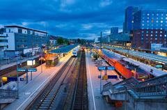 Freiburg hauptbahnhof railway station, germany Stock Photos