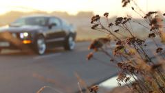 Blurred Car On The Road Stock Footage