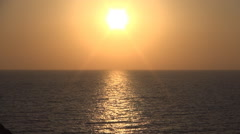 HD Timelapse in the evening of a summer day. Sea sunset.  Stock Footage