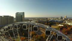 Atlanta Aerial Ferris Wheel Stock Footage