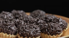 The famous Brazilian sweet called Brigadeiro Stock Footage