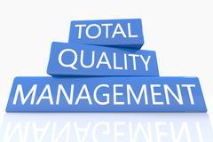 total quality management - stock illustration
