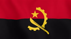 Loopable: Flag of Angola Stock Footage