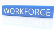 workforce - stock illustration