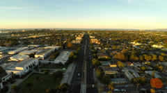 Los Angeles Aerial Venice Blvd Sunrise - stock footage