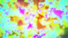 Garish Colorful Glowing Pyramids Abstract Background Loop 1 Stock Footage