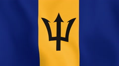 Loopable: Flag of Barbados Stock Footage