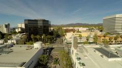 Los Angeles Aerial Santa Monica Third Street Promenade - stock footage
