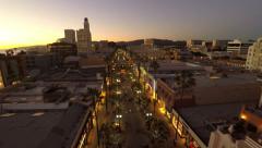 Los Angeles Aerial Santa Monica Third Street Promenade Stock Footage