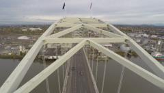 Portland Aerial Fremont Bridge - stock footage