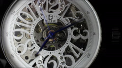 Time lapse clip of watch face as time flies by - stock footage