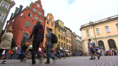 Stortorget public square, Gamla Stan Stock Footage