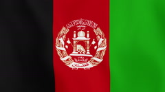 Loopable: Flag of Afghanistan - stock footage
