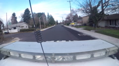 point of view police car top patrolling neighborhood at day 1080p 24fps - stock footage