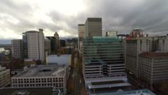 Portland Aerial Cityscape Downtown Stock Footage