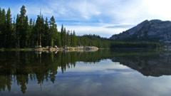 Alpine Lake Reflection in Yosemite Stock Footage