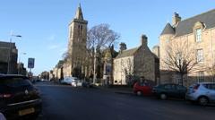 Exterior of St Salvators chapel part of St Andrews university Scotland Stock Footage