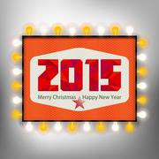 Happy new year background with advertising board for 2015 Piirros