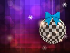 Abstract shine christmas ball at the party Stock Illustration