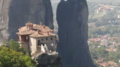 Stock Video Footage of Meteora Grecian Monastery Rousánou 22